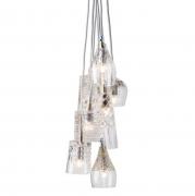 Lampa Wisząca Crystal Group 7 Silver Ebb&flow