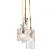 Lampa Wisząca Crystal Group Bates Jeeves Sybil Gold Ebb&flow