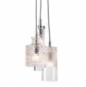 Lampa Wisząca Crystal Group Bates Jeeves Sybil Silver Ebb&flow