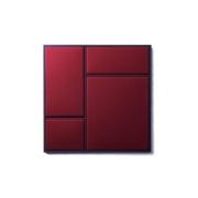 Tablica Nouveau Pin Stal Proszkowana Czerwona Średnia Please Wait To Be Seated