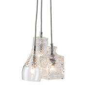 Lampa Wisząca Crystal Group Henley Bates Jeeves Silver Ebb&flow