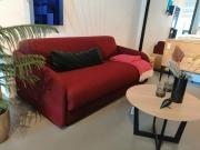 Sofa Rozkładana Eivor Spring 160 Cm Tk; Kenya Bordeaux Innovation