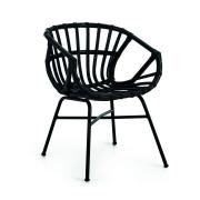 Krzesło Ogrodowe Rubin Czarne