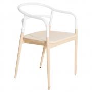krzesło dojo z podłokietnikami białe Petite Friture