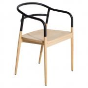krzesło dojo z podłokietnikami czarne Petite Friture