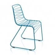 Krzesło Ogrodowe Flux Niebieskie Magis