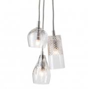 Lampa Wisząca Crystal Group 3 Silver Ebb&flow